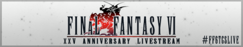 1 hour until Jesse Cox livestream of Final Fantasy VI!  #FF6TGSLive  http://bit.ly/Y319ry  http://bit.ly/USBFtY