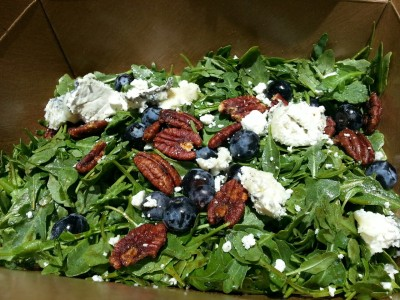 Humboldt fog pecan blueberry arugula salad from Darwin Cafe