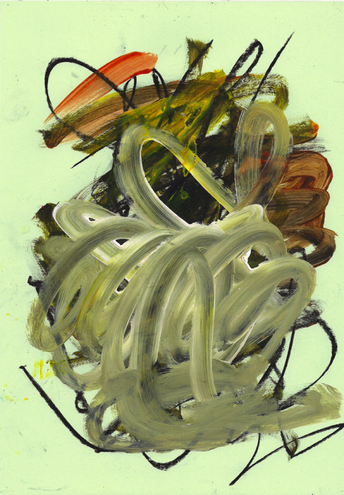 benandsherman:  Ben & Sherman. Untitled #38. 2013. Acrylic on green paper, 8.3 x 11.8 in (21 x 30 cm).