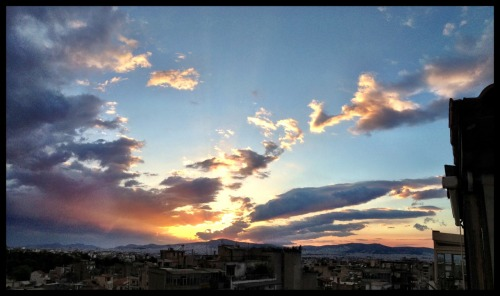 Sunset on my last day in Athens.