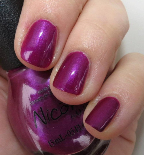 "Selena Gomez' ""Pretty in Plum"" from her Nicole by OPI Nail Polish Collection!"