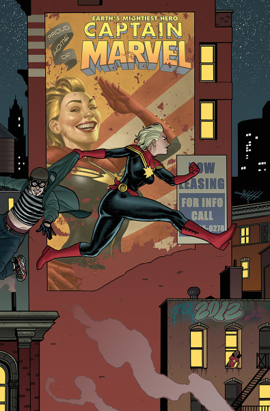 Cover to Captain Marvel #11 by Joe Quinones Love it!