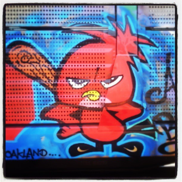 #angrybird  Rolling into #Cali on #fr8heaven #railroad #graffiti #graffitiart #SoCal #art