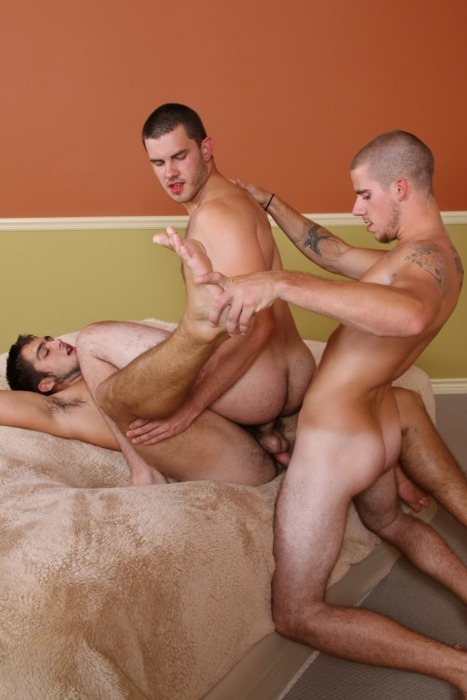 #Gayxxx #3way ||   nastyfuckers:  Love this scene.