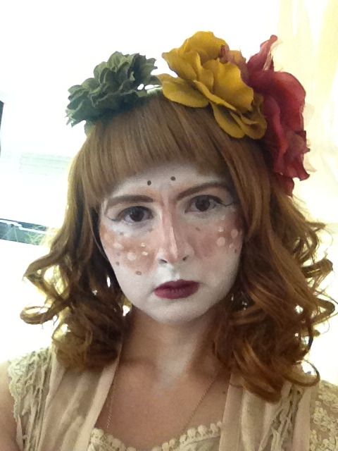 A shot of my makeup from the  shiranuri meetup today! I went for a Mori inspired look! Can't wait to see all the pics from our amazing photographer *_*