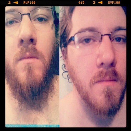 Shaved today. First time this year. #beard #ginger #safetyrazor #instagram #colege