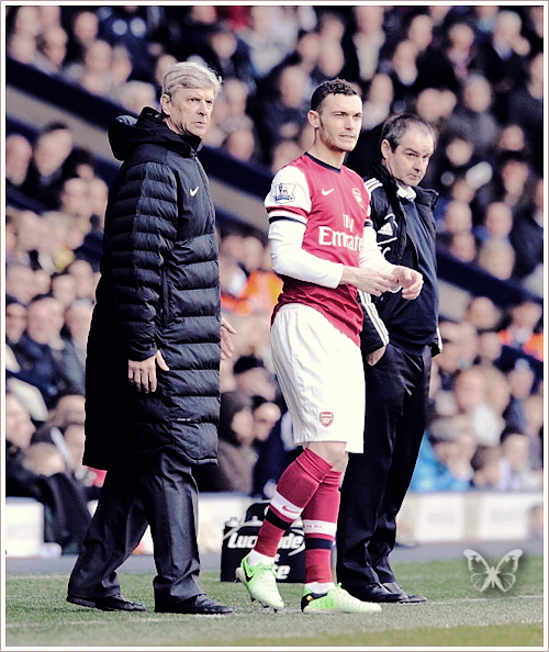 oh-fabianski:  Arsenal vs West Brom Albion [06.04.2013] - Vermaelen