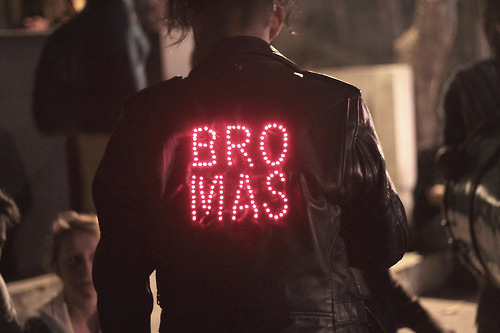 Bro Mas, 2012, leather jacket, LEDS, electronics, 9v battery