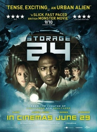 "I am watching Storage 24                   ""For the next episode of @Slasher_Cast, we go Brit horror for our feature selection.""                                Check-in to               Storage 24 on GetGlue.com"