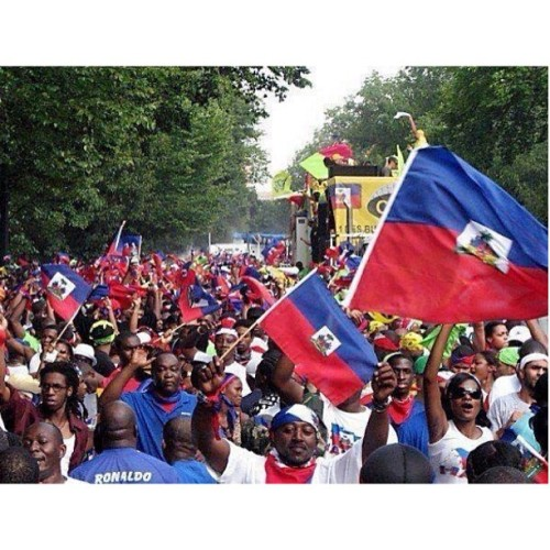 Happy Haitian Flag Day. Wear our colors with pride and gratitude for the many sacrifices made by our ancestors for our independence. L'union fait la force. Here is a link to an article about the history of Haitian Flag Day - http://haitianflag.tripod.com/id1.html
