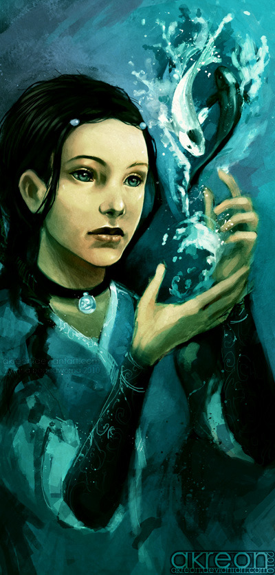 waterbendingcoolestthing:  Katara by *akreon  Mary: