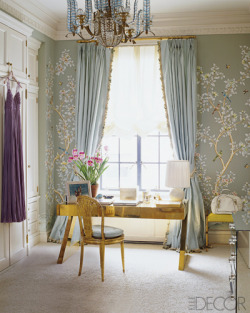 classic-actually:  Aerin Lauder's home in ELLE Decor