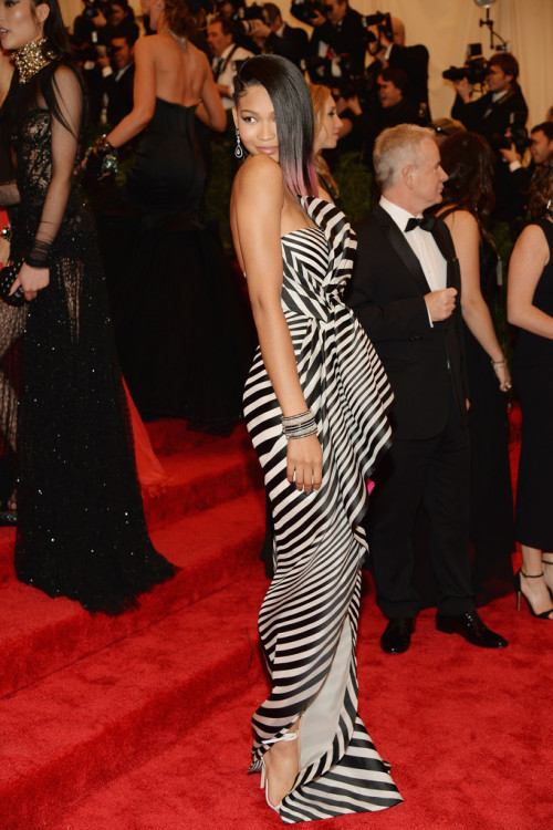 Chanel Iman in J. Mendel at the 2013 Met Gala (via blackfashion)