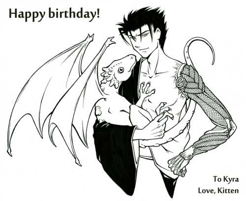 fauxfires:  kitten-kin:  Happy birthday Reikah! Here, have proud Papa Kurogane and one of his adopted babus~ <3 Wishing you all the happiness we wish for our characters but none of the angst, torment, tragedy, and body part loss. Confession: I am terrible at names and every time I do one of these I am scrambling around for hours trying to confirm that I am remembering everyone's alternate names correctly. So far among all of my beloveds I really only have two people's multiple names really locked down in my head. Two. That's it. I'm more terrible at names than Fai is at healing magics.  AHHHHHHHHHHH BABIIIIIIIIIIIIIIIIIIIIIIIIIIIIIESSSSSSSSSSSSSSSSSSSS  OH MY GOOOOOOOOOOOOOOOOOOOOOOOOOOOOOOOOOOOOOOOOOOOOOOD!