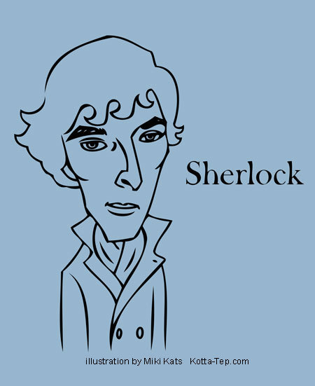 Sherlock Illustration by Miki Kats via Studio Tep