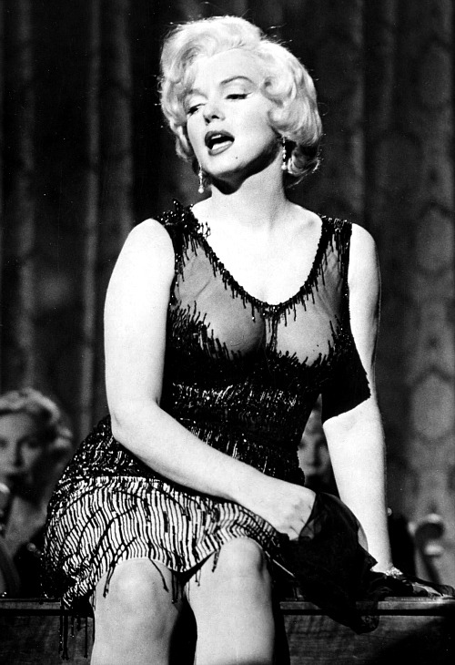 Marilyn Monroe in a publicity still for Some Like it Hot, 1958