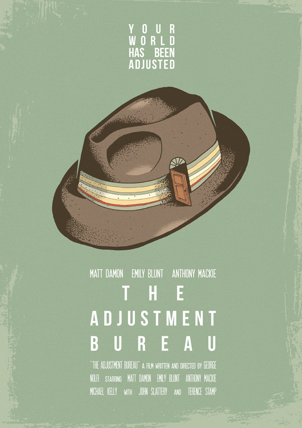 fuckyeahmovieposters:  The Adjustment Bureau by  Joel Amat Güell