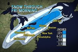 East Enduring Major Post-Christmas Winter Storm After slamming the southern Plains and Deep South on Christmas Day, a powerful winter storm will continue to invade more of the eastern Great Lakes and Northeast into Thursday.