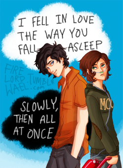 "firelordwael:  percyjacksonstyle:  firelordwael:  I FINALLY FINISHED! this literally took me like 2 days to complete and i am so proud of it!!!  Now about the character designs… clearly gus looks great….and well ORANGE, BUTTONED DOWN shirt…. see what i did there? and dont ask about hazel…i have no idea why i drew that outfit but oh well!  and suffice to say i love the way both their hair came out!!! gah..can i fanboy over my own creation? Art by Me  Why am I surprised that you're a boy?  well…i think it's because of Gus's sexiness.. now dont get me wrong, im very much straight, but i have three people to thank who helped me perfect the ""sexy"" aspect of this picture.. first, my friend meghan who always answers my ""is this sexy?"" questions until my pic is sexy! second, my friend suha who suggested gus's hair cut! apparently…it's irresistible!  and third, viria! i was too happy when i finished this pic, i forgot to credit her, firstly because well i learnt how to color from her tutorials, and secondly, because i used the jaws and eye structure from one for her pictures because i suck at face anatomy yay !  Hope that eases your astonishment :D"
