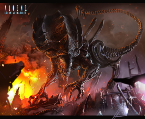 lilium-ion:  Alien Colonial marines concept art Crusher by neisbeis
