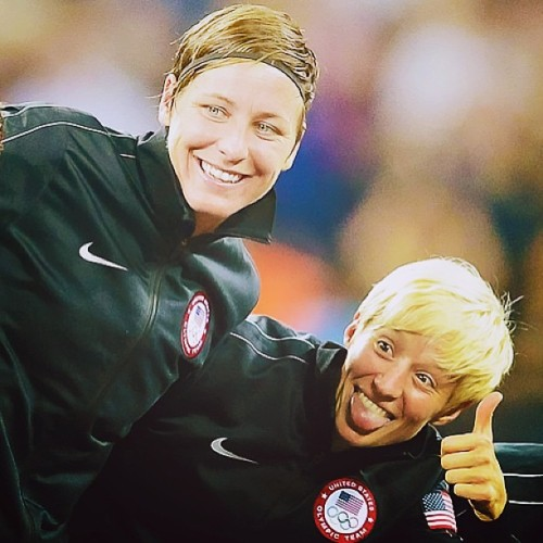 This is just perfect #AbbyWambach #MeganRapinoe #USWNT @mrapinoe
