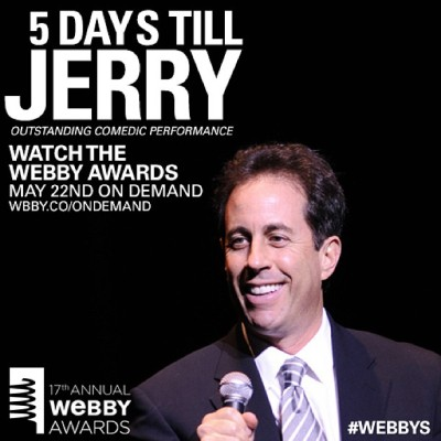 5 DAYS. THAT'S the deal with the Webbys.