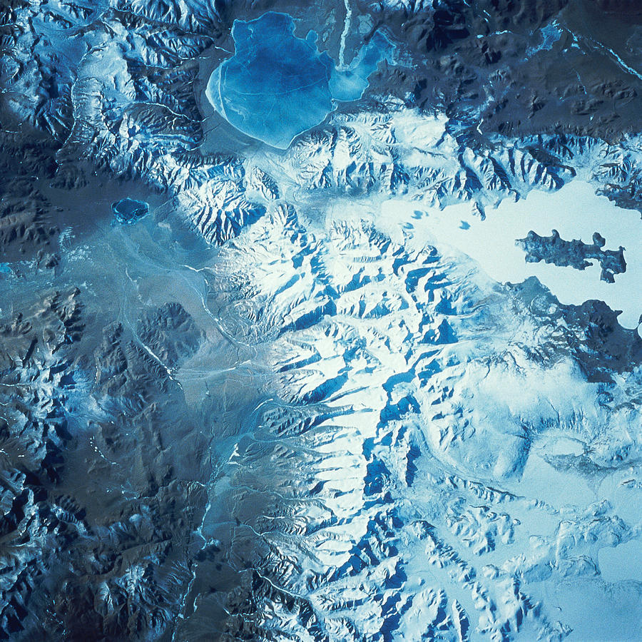 eocene:  Satellite Image Of A Mountain Range by Stocktrek