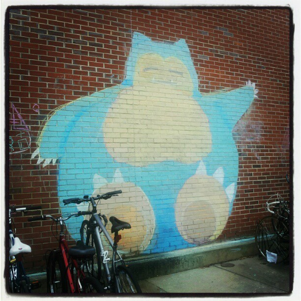 Daily Graffiti Giant Snorlax chalk graffiti spotted by fuzzcat. Check out our Daily Graffiti Archives for more geektastic street art! Add your geeky graffiti pics to our Group Pool on Flickr!