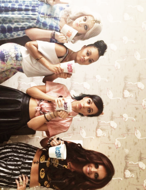 littlemixdaily:   the girls on sunday bunch (x)