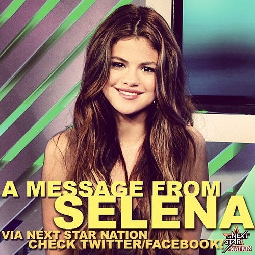 @thenextstarytv: #NextStarNation Did you check out the message from @SelenaGomez? Do it! #TNS6
