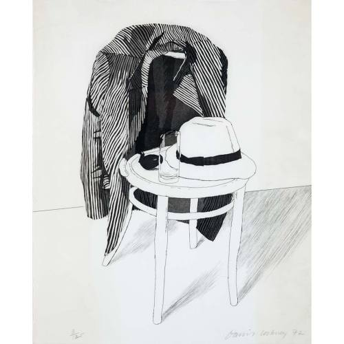 thebengalstripe:  Panama Hat, David Hockney  Chaired.