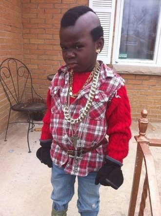 cosplay-and-costumes:  Little Mr. T.  I pity the fool who doesn't like this cosplay!