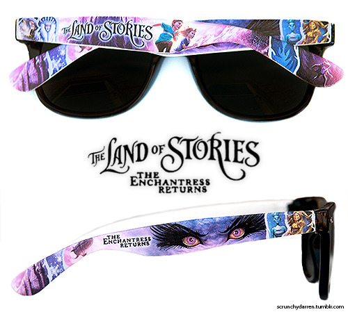 scrunchydarren:   Fan-made The Land of Stories 2 Sunglasses  Many of you have been requesting, and now they are finally here. I am really digging the purple. Get your pair today and wear them this summer when Chris (hopefully) goes on tour! You can buy them here. I also have other designs for TLOS 1 and SBL which you can see here.