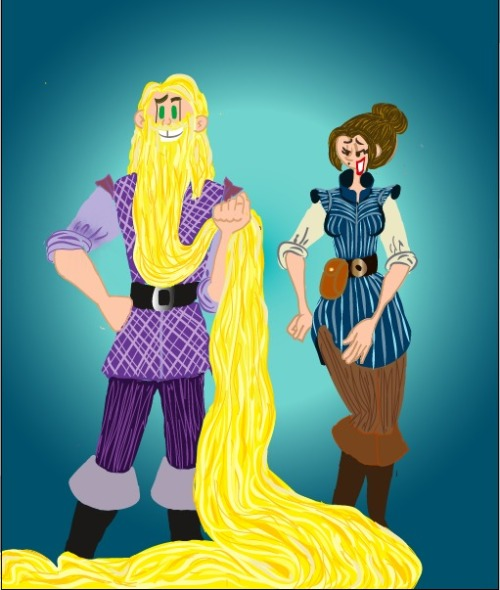 Genderbent version of Tangled Enjoy!  Artwork by Joyhorse13 (DeviantArt)