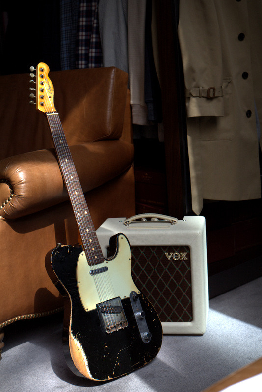 Mr. L's amazing 1962 Fender Tele not only has the loving wear and tear of late night gigs and living room jam sessions, but sounds just like it looks - beautiful.