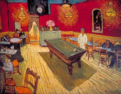 """The Night Café"", 1888, Vincent van Gogh."