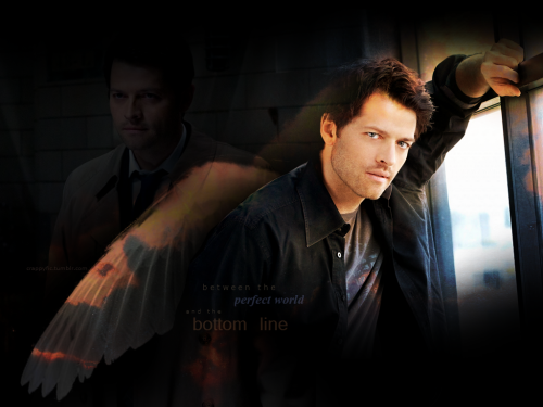 Random Castiel art, made without use of my precious Photoshop (*cries* I miss you, Photoshop…). Lyrics: Wild Angels by Martina McBride Texture: Lostinconfusion.net Images: SaltedandBurned.com