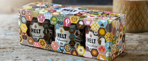 03.05.2013: Helt Honey - design by Studio Arhøj, Denmark. Winner of mad+medier mademballage (packaging design) #allgoodthings #danish spotted by missdesignsays.