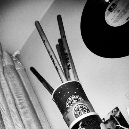 My dusty drum sticks.