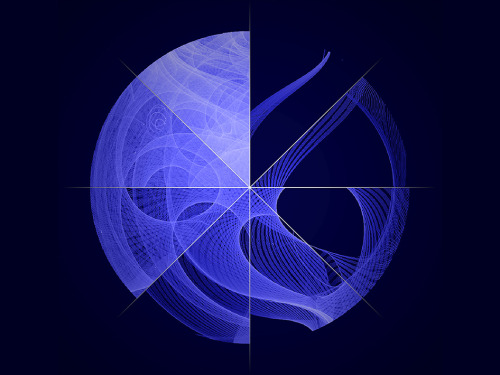 spaceplasma:     Fermi's Motion Produces a Study in Spirograph NASA's Fermi Gamma-ray Space Telescope orbits our planet every 95 minutes, building up increasingly deeper views of the universe with every circuit. This image compresses eight individual frames, from a movie showing 51 months of position and exposure data by Fermi's Large Area Telescope (LAT), into a single snapshot. The pattern reflects numerous motions of the spacecraft, including its orbit around Earth, the precession of its orbital plane, the manner in which the LAT nods north and south on alternate orbits, and more. The LAT sweeps across the entire sky every three hours, capturing the highest-energy form of light — gamma rays — from sources across the universe. These range from supermassive black holes billions of light-years away to intriguing objects in our own galaxy, such as X-ray binaries, supernova remnants and pulsars. Image Credit: NASA/DOE/Fermi LAT Collaboration
