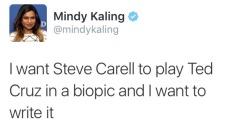 the office steve carell stephen colbert amazing tweets Mindy Kaling ted cruz blame ted cruz