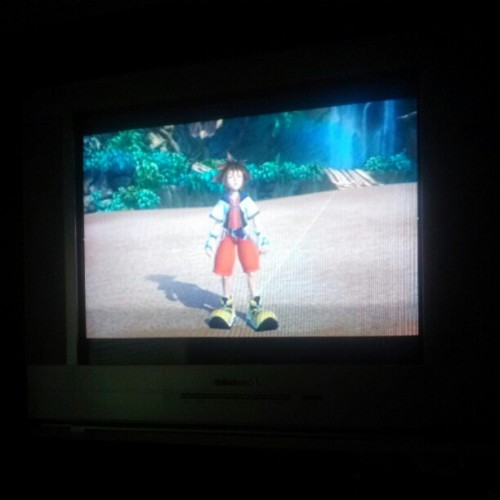 I am celabrating my last day of #finals by playing #kingdomhearts , the game that started bring out my nerdy side of me that will never change #fuckfinals #2013collegelife @tommytoxinz