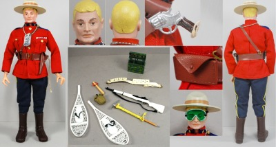 "1967 GI Joe ""Action Men"" Canadian Mountie set."