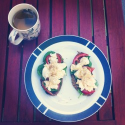 Yum #lunch #cleaneats #healthy #yummy #greentea #eggs