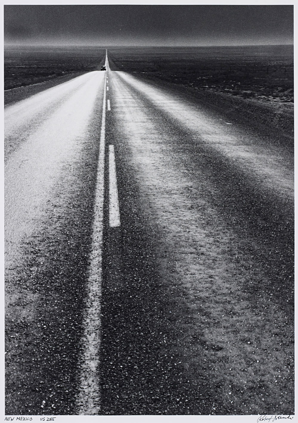 ROBERT FRANK | U.S. 285, New Mexico, 1955 | Gelatin silver print, printed later  Sold for £43,250 at the Photographs sale, 8 November 2012, London.