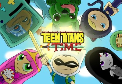 kalers2010:  Two of my favorites put together!! :D Adventure Time and Teen Titans!!