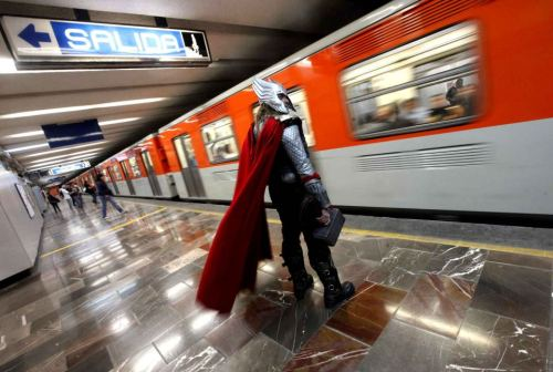 Thor taking the subway