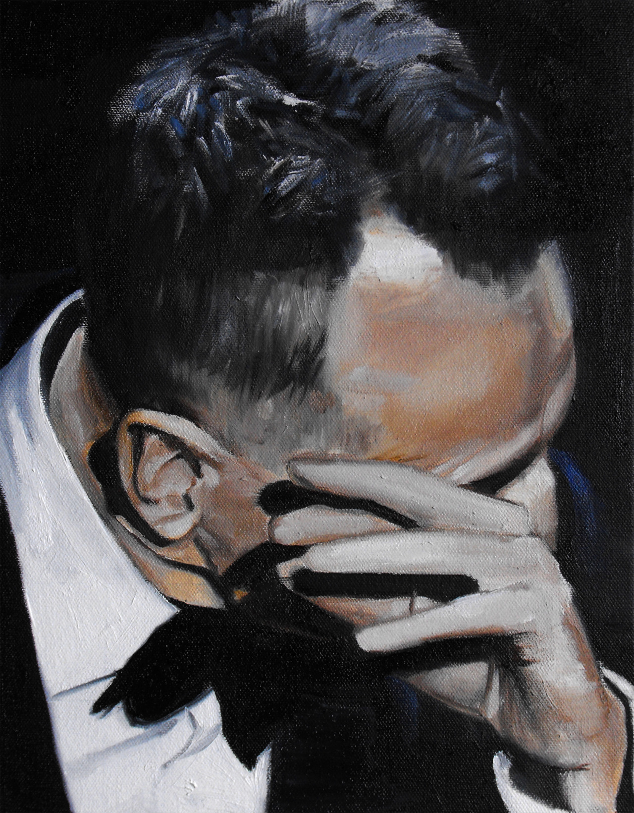 "Sweat (I) by Travis K. Schwab - Oil on canvas 14"" X 11"""