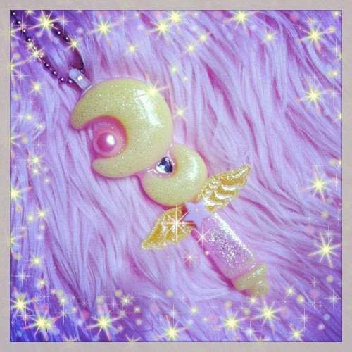 kawaiigoods:  Magical Wand Moon Scepter Necklace!!!!