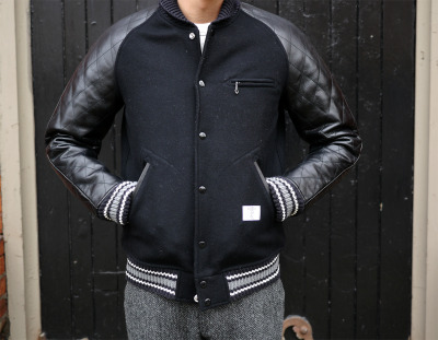 "havenshop:  BEDWIN ""Jerry"" Quilted Varsity Jacket"